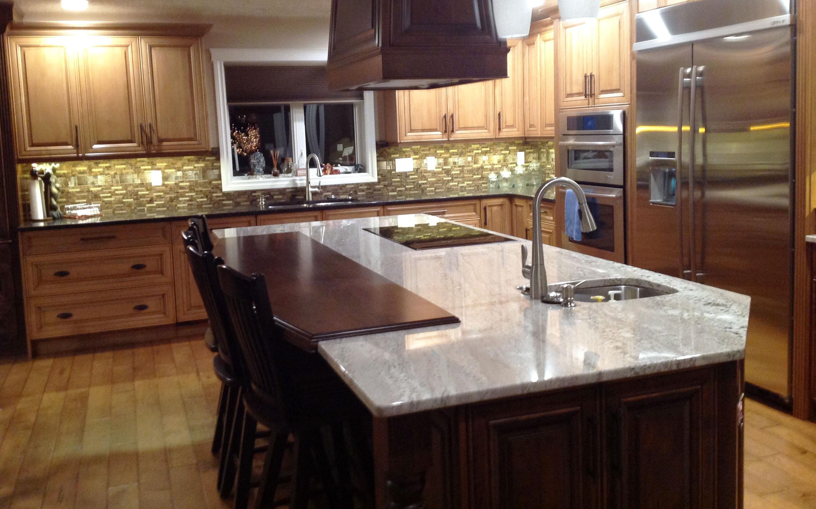 custom built homestyle kitchen